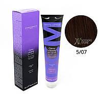 5/07 светлый шатен интенсивный коричневый Безамиачная краска для волос DCM Cream Ammonia 100 мл