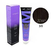 3/0 темный шатен натуральный Безамиачная краска для волос DCM Cream Ammonia 100 мл