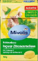 Леденцы без сахара Mivolis Ingwer-Zitronenmelisse, 50 гр.(16шт), фото 1