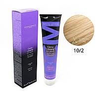 10/2 платиновый блондин пепельный Безамиачная краска для волос DCM Cream Ammonia 100 мл