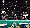 Интерьерная наклейка Новогодняя Снеговики