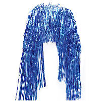 Акция! Парик из дождика 35см Stenson (J01690) цвет: синий [Распродажа! Спешите, количество товара ограничено!]