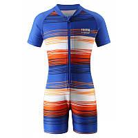 Сине-оранжевый купальный костюм унисекс Reima Odessa размеры 80 лето девочка;мальчик TM Reima 516345-664A