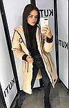 Женская зимняя куртка парка, подкладка овчина , рукава на синтепоне фото реал, фото 5