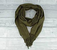 Нежный кашемировый шарф, палантин Cashmere 7480-15 хаки, расцветки, фото 1
