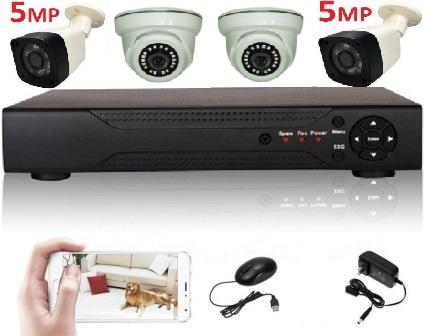 Super Full HD 5Mp комплект видеонаблюдения на 4 камеры