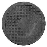 """Люк """"Garden"""" полимерпесчаный чёрный ( 1т) р. 680мм, фото 1"""