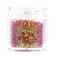 Камифубуки для декора ногтей в баночке, цвет Перламутровый