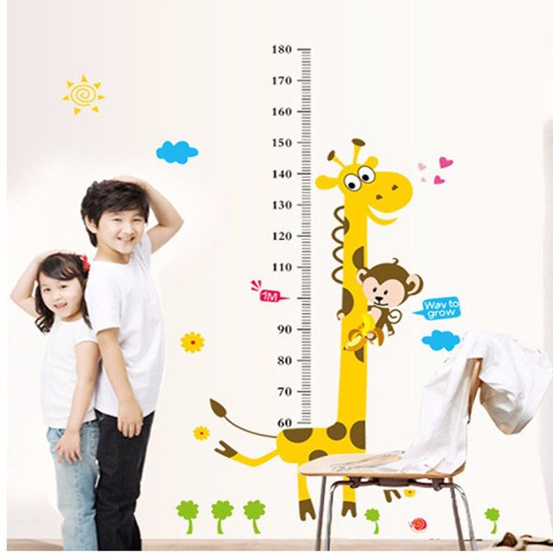 Дитяча наклейка на стіну ростомір - жираф