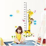Дитяча наклейка на стіну ростомір - жираф, фото 2