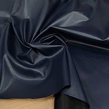 Ткань искусственная стрейч кожа темно-синий, фото 2