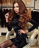Женское шикарное нарядное платье с пайетами.  ЛЮКС, фото 2
