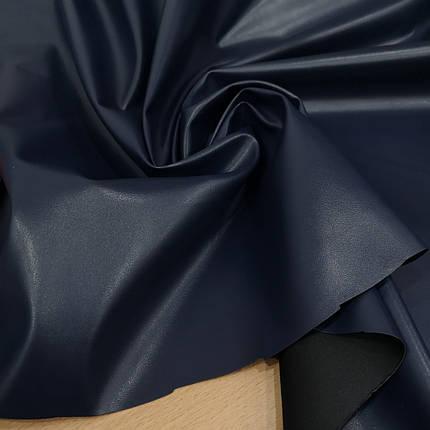 Ткань стрейч-кожа темно- синяя, фото 2