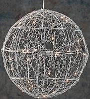 Декоративный шар серебрянный диаметр 25 см, 30led Luca Lighting (8718861660951)