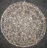 Акция! Декоративный шар серебрянный диаметр 60 см, 320 led Luca Lighting (8718861660982) [Бесплатная доставка!]