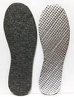 Стелька для обуви фетровая с алюминиевой фольгой, фото 1
