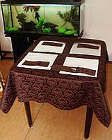 Скатерть водоотталкивающая Шоколад с рисунком, фото 1
