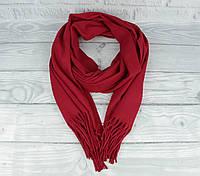 Нежный кашемировый шарф, палантин Cashmere 7480-16 бордовый, расцветки, фото 1