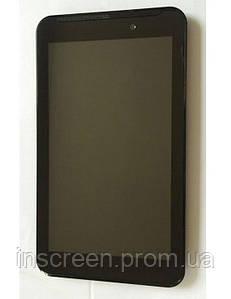 Экран (дисплей) Asus FonePad 7 FE170CG, MeMO Pad 7 ME170, ME170c, K012K017K01A с сенсором и рамкой черный
