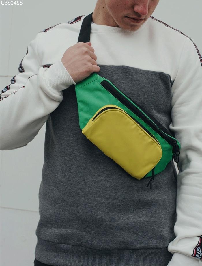 Поясна сумка Staff yellow and green