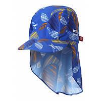 Синяя с рыбами панама для мальчика Reima Turtle размеры 44/46;48/50;56/58 лето мальчик;девочка TM Reima 518459-6644