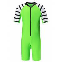Салатовый купальный костюм унисекс Reima Yasawa размеры 104;110;92;98 лето мальчик;девочка TM Reima 526327-8330