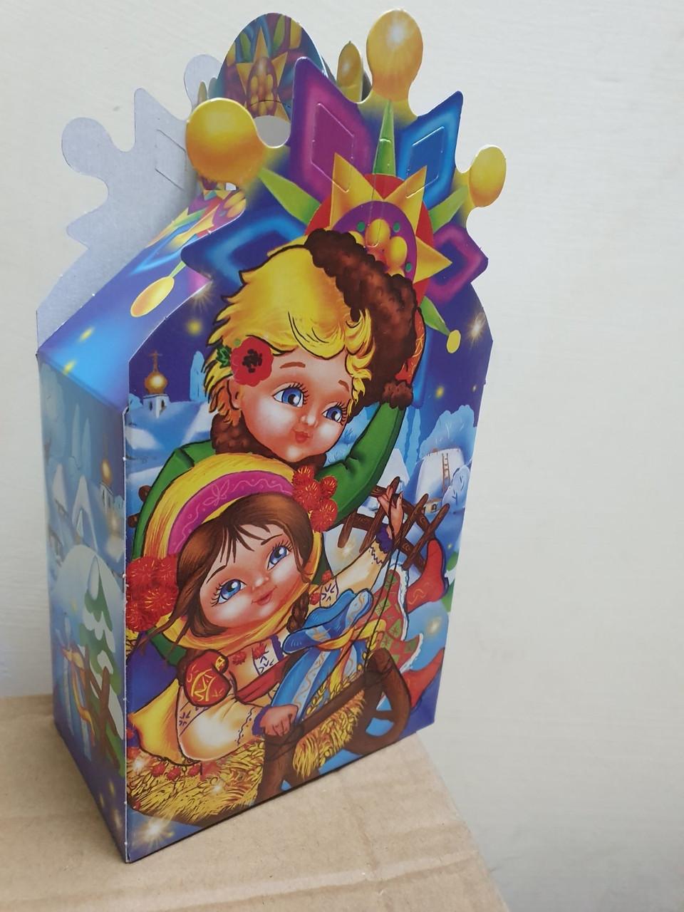 Новогодняя картонная упаковка для конфет Девочка 250 грамм