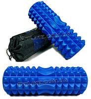 Валик массажный 33х13 см Special Massage Roller PRO (ролик, валик спортивный для массажа спины, ног,) с чехлом