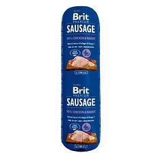 Колбаса Brit Premium Dog Sausage, курица и кролик, 800 г