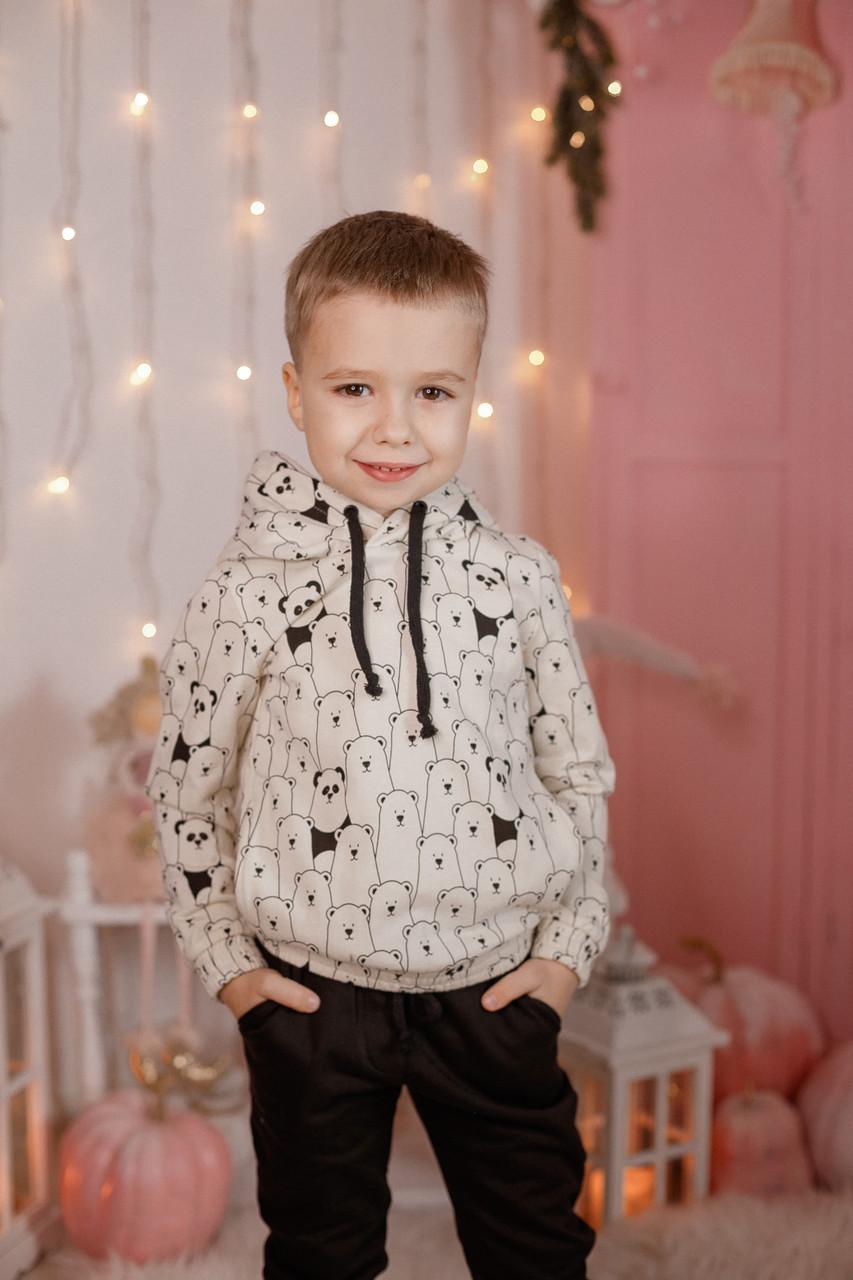 Детский спортивный костюм из двухнитки Мишки