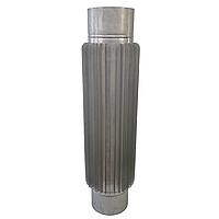 Труба-радиатор ø130 мм 1 мм 1 метр AISI 321 Stalar для дымохода сауны бани из нержавеющей стали