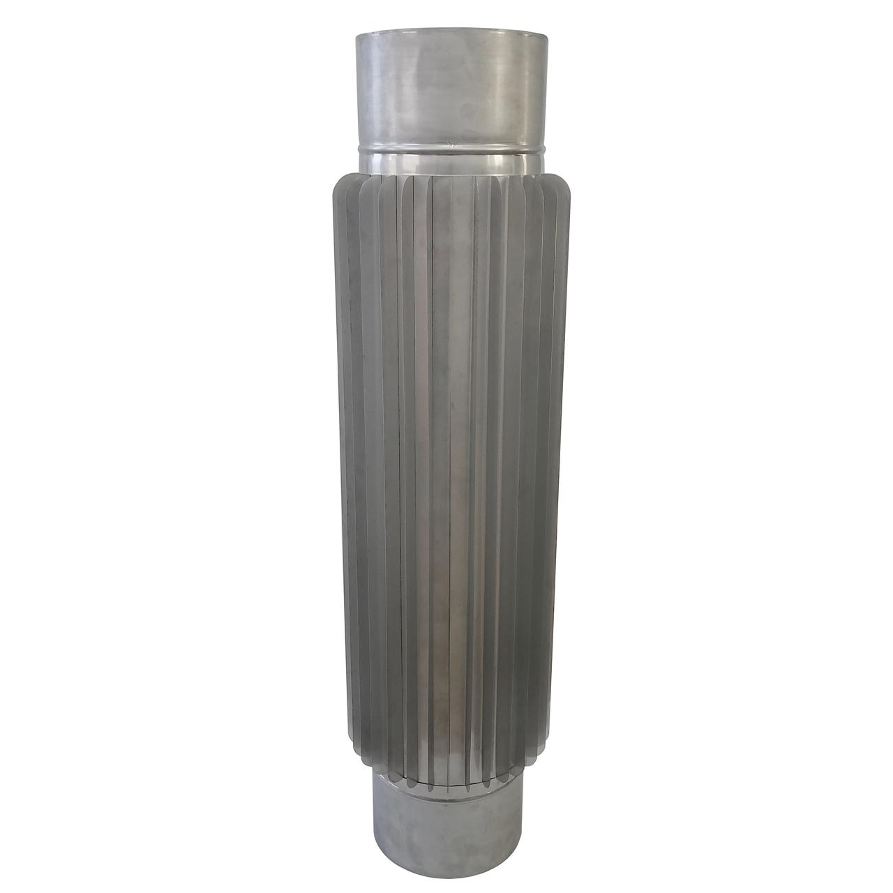Труба-радіатор ø140 мм 1 мм 1 метр AISI 321 Stalar для димоходу сауни бані із нержавіючої сталі