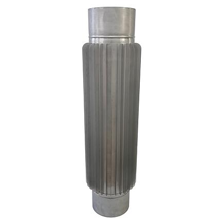 Труба-радіатор ø140 мм 1 мм 1 метр AISI 321 Stalar для димоходу сауни бані із нержавіючої сталі, фото 2