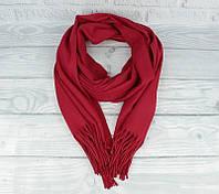 Кашемировый шарф, палантин бордовый Cashmere 7480-16, фото 1