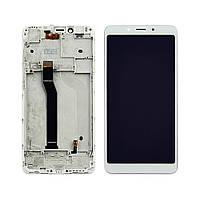 Дисплей для XIAOMI Redmi 6/6A с белым тачскрином и корпусной рамкой