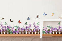 Декоративная  наклейка сиреневые цветы  (228х21см), фото 1