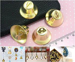 (10шт) БОЛЬШИЕ колокольчики металлические Ø30мм Цвет - Золото (сп7нг-3078)