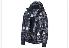 Термокуртка синяя разноцветная  зимняя лыжная для мальчика Crivit р. 146/152см