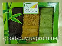 Комплект из 3 бамбуковых полотенец Cestepe 3шт: 40х60  Турция