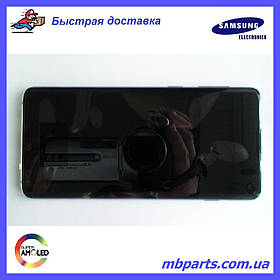 Дисплей с сенсором Samsung G973 Galaxy S10  Green, GH82-18850E, оригинал!