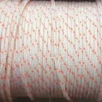 """Верёвка """"Крокус"""" диаметром 2мм (линь) белая с красным"""