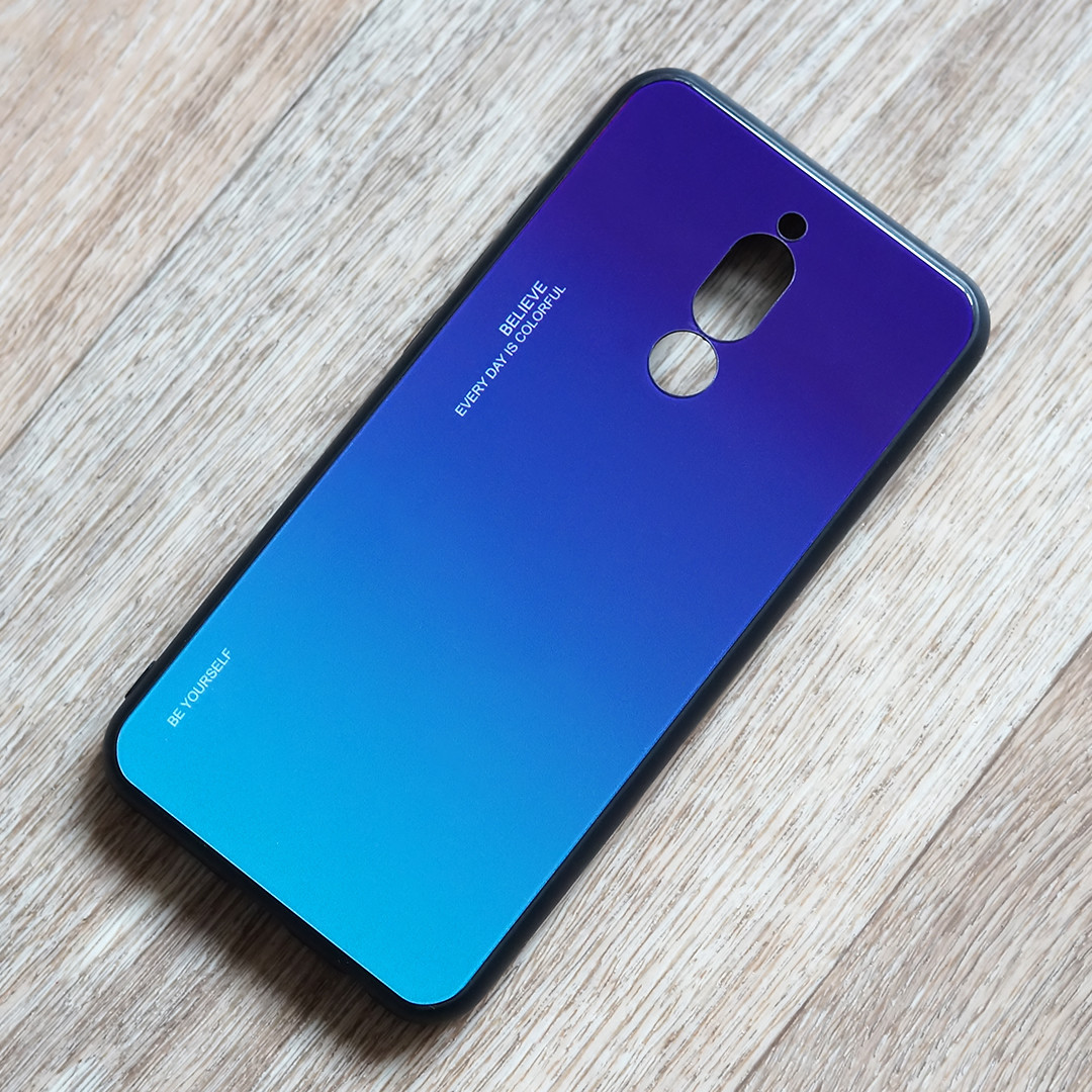TPU чехол Gradient для Xiaomi Redmi 8 (сине-фиолетовый)