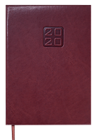 Еженедельник датированный в линию Buromax 2020 Bravo Soft, 136 страниц, A4 тёмно-коричневый