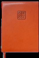 Еженедельник датированный в линию Buromax 2020 Bravo Soft, 136 страниц, A4 коньячный