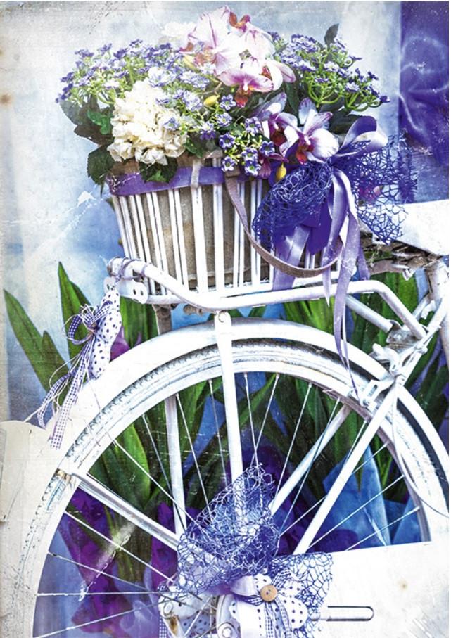 Подарочный пакет БОЛЬШОЙ ВЕРТИКАЛЬНЫЙ 25*37*8 см Прованские цветы