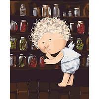 """Картина по номерам """"Гапчинская - Я знаю где прячутся соленые огурчики..."""" ★★★★  scs"""