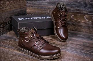 Мужские зимние кожаные ботинки в стиле Kristan City Traffic Brown, фото 3