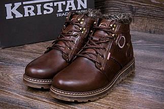 Мужские зимние кожаные ботинки в стиле Kristan City Traffic Brown, фото 2
