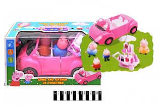 Набор Машинка с героями, свинка, фигурки, YM11-802