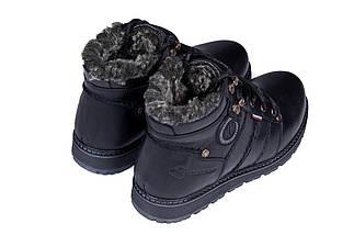 Мужские зимние кожаные ботинки в стиле Kristan City Traffic Black, фото 3